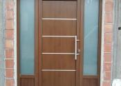 Standard al ulazna vrata sa inox panelom u dekoru orah 1