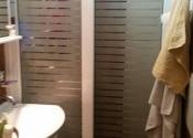 Al klizna vrata sa peskarenim staklom za kupatilsku kabinu