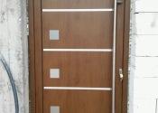 Standard al ulazna vrata sa inox panelom u dekoru orah 2