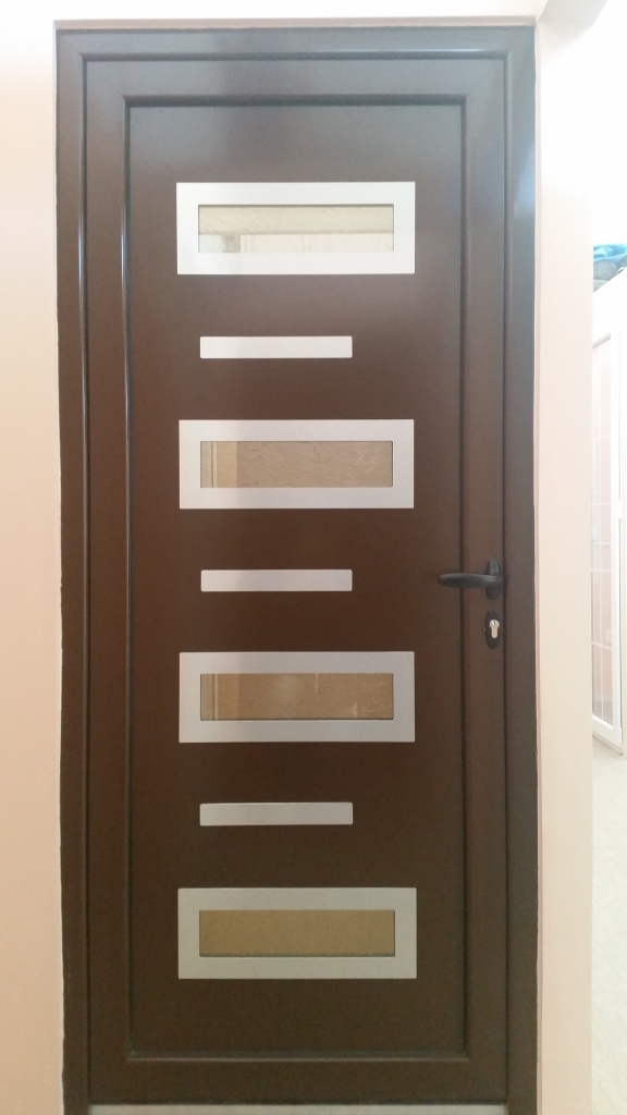 Alu ulazna vrata za kuću inox panel
